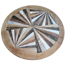Round Recycled Teak Wood Coffee Table - Chic Teak