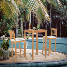 "3 Piece Teak Wood Amsterdam Intimate Patio Bistro Bar Set including 27"" Bar Table & 2 Barstools"