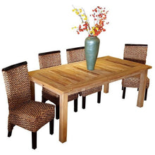 "Recycled Teak Wood Dining Table - 79"" x 40"" - Chic Teak"
