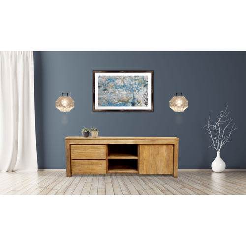 Recycled Teak Wood Solo Media Center, 2 Drawer 1 Cabinet - Chic Teak