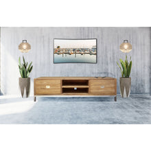 Recycled Teak Wood Stella Media Center with 2 Drawers - Chic Teak