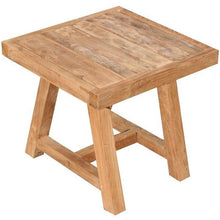 Recycled Teak Wood End Table - Chic Teak
