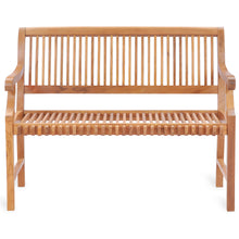 Teak Wood Castle Bench with Arms, 4 ft