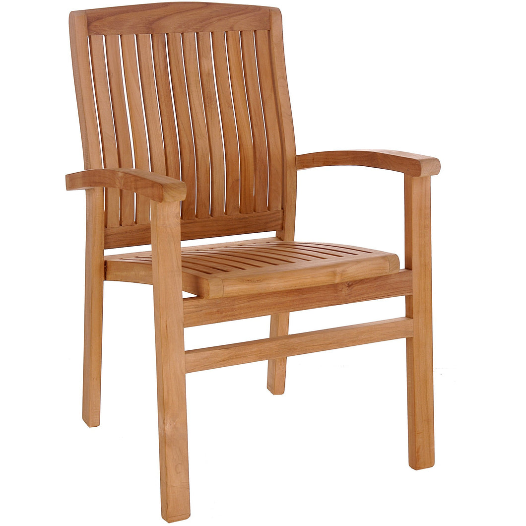 Teak Wood Belize Stacking Arm Chair