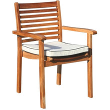 9 Piece Teak Wood Italy Table/Chair Set With Cushions - Chic Teak