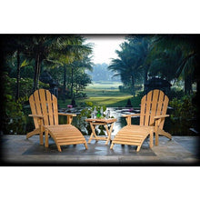 Teak Adirondack Chair With Footstool-Chic Teak