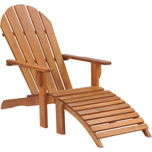 Teak Wood Adirondack Chair With Footstool