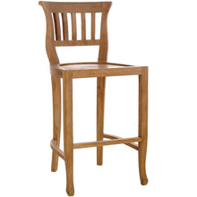 Teak Wood Amsterdam Counter Stool, 24 inch seat
