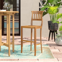 Teak Wood Amsterdam Bar Stool - Chic Teak