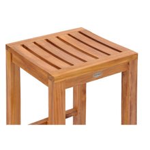 Teak Wood Santa Monica Bar Stool, 30 inch