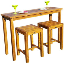 Teak Wood Santa Monica serving Table - Chic Teak