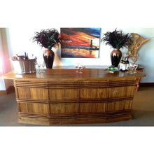 Waxed Teak Wood Large Key West Bar - Chic Teak
