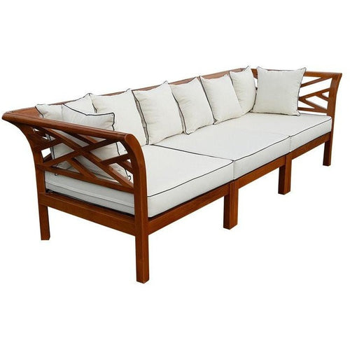 Teak Long Island Sectional, 3 Pieces - Chic Teak