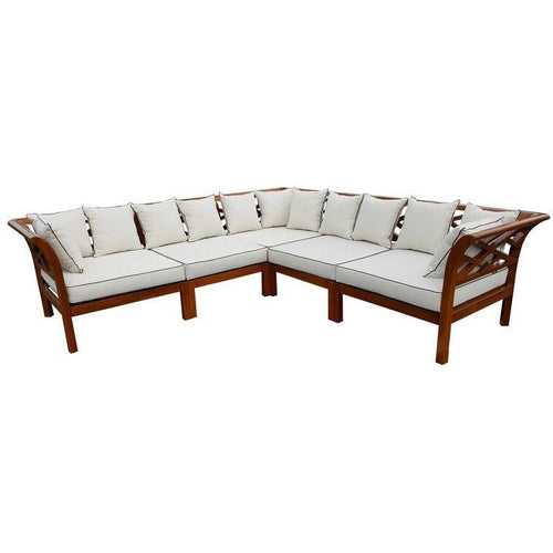 Teak Wood Long Island Sectional, 5 Pieces - Chic Teak