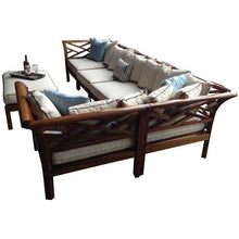 Teak Wood Long Island Ottoman - Chic Teak