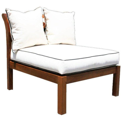Teak Long Island Armless Section - Chic Teak