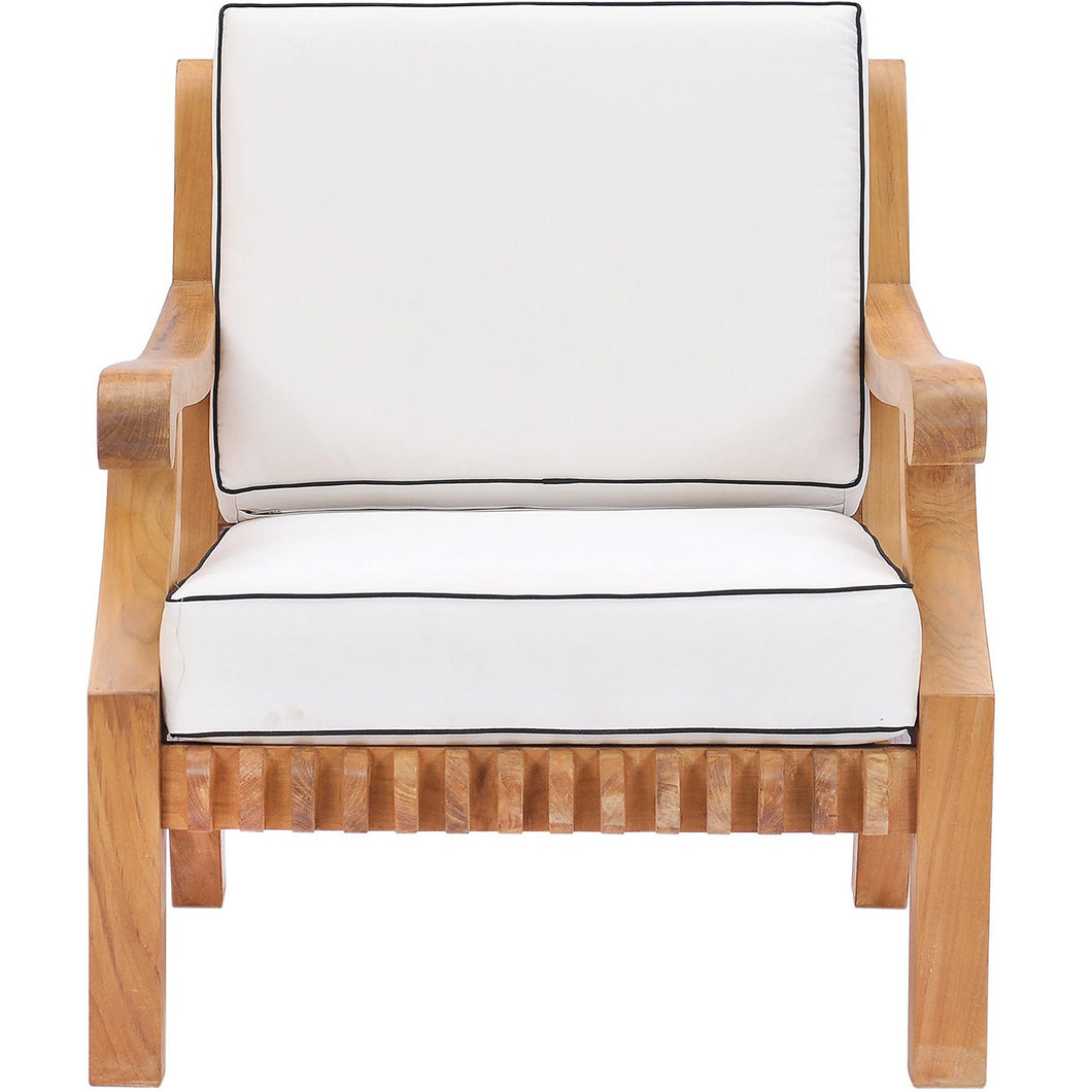 Teak Wood Castle Deep Seating Patio Lounge Chair With