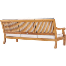 Teak Wood Castle Deep Seating Sofa with Cushions
