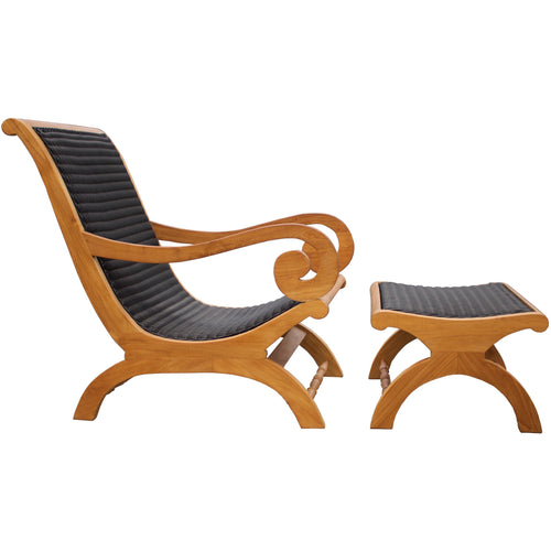 Kenya Lazy Chair Incl. Footstool-Chic Teak