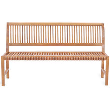 Teak Wood Castle Bench without Arms, 6 ft