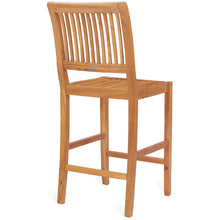 Teak Wood Castle Barstool