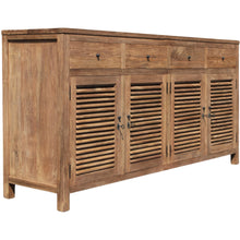 Recycled Teak Louvre Cabinet 4 Doors 4 Drawers - Chic Teak