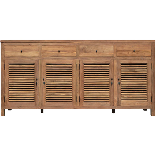 Recycled Teak Louvre Cabinet 4 Doors 4 Drawers-Chic Teak