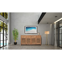 Recycled Teak Wood Louvre Cabinet with 4 Doors 4 Drawers - Chic Teak