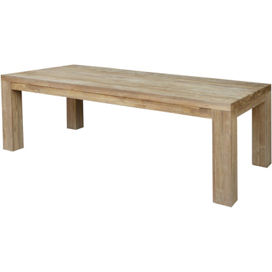 Recycled Teak Wood Marbella Dining Table, 71 Inch - Chic Teak