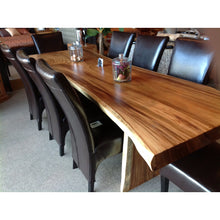 Suar Live Edge Single Slab Hardwood Dining Table/Conference Table, 157 L x 37 W in.