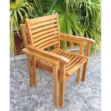 Teak Wood Italy Stacking Arm Chair - Chic Teak