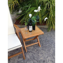 Teak Wood Miami Footstool / Side Table - Chic Teak