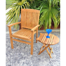 Teak Wood Belize Stacking Arm Chair - Chic Teak