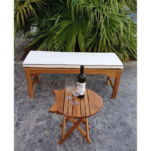 Teak Santa Monica Backless Bench-Chic Teak