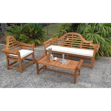 Cushion Lutyens Triple Bench and Swing - Chic Teak