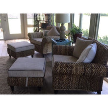Naples Woven Ottoman with Cushion - Chic Teak