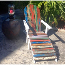 Adirondack Chair Including Footstool Made From Recycled Boats - Chic Teak