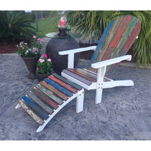 Adirondack Chair Including Footstool Made From Recycled Teak Wood Boats - Chic Teak