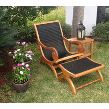 Kenya Indoor/Outdoor Teak Wood Lazy Chair Including Footstool - Chic Teak