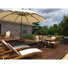 Sun Garden 13 Ft. Cantilever Umbrella and Parasol, the Original from Germany, Black Color Canopy with Silver Frame - Chic Teak