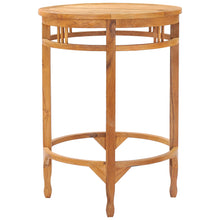 Medium Teak Wood Orleans Bar Table, 32 Inch Round