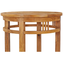 Small Teak Wood Orleans Bar Table, 27 Inch Round