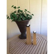 Prisma Recycled Teak Wood Candleholder, set of 2 - Chic Teak