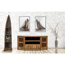 Waxed Teak Wood Belize Buffet / Entertainment Center - Chic Teak
