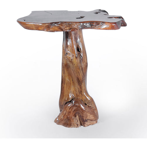 Teak Wood Slab Rustic Bar Table - Chic Teak