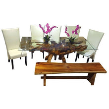 Teak Root Dining Table Including a 71 x 40 Inch Glass Top - Chic Teak