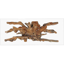 Teak Wood Root Dining Table Including 87 x 43 Inch Glass Top - Chic Teak