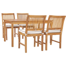 "5 Piece Teak Wood Bermuda 55"" Rectangular Small Bistro Dining Set with 4 Side Chairs"