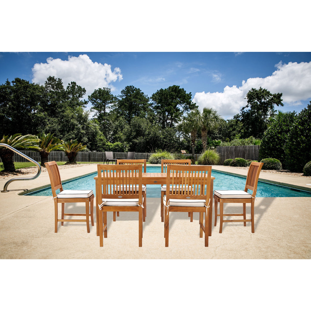 7 Piece Teak Wood Bermuda 63