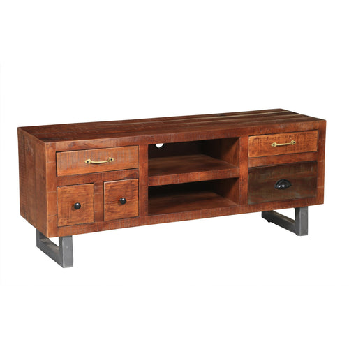 Himalaya Mango Wood Media Center - Chic Teak